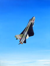 "English Electric Lightning Aviation Painting Art Print - 5 Squadron - 14"" Print"