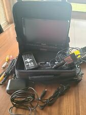 Sony Portable CD/DVD player, Rotating/Folding Down the LCD panel w/ travel case