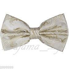 Beige Men's BUTTERFLY Design Pretied Bow tie Prom Wedding Formal Formal
