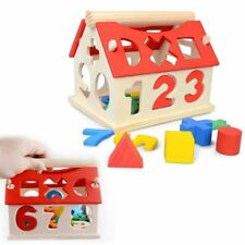 Kid's Children WOODEN SERIES WISDOM TOY - Wooden Number House Set