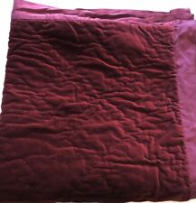 Pottery Barn Washed Vevet Silk Diamond Quilted Euro Pillow Sham