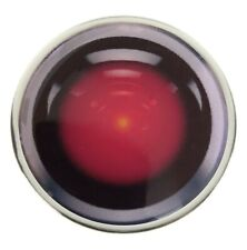 HAL 9000 2001 SPACE ODYSSEY SILVER COLOUR EDGE BUTTON BADGE