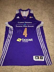 Adidas Climacool WNBA Phoenix Mercury Candice Dupree Jersey Purple AUTOGRAPH MED