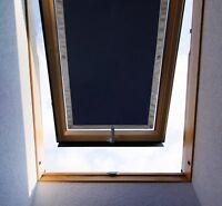 Verdunkelungsrollo Dachfenster rollo Sonnenschutz Saugnäpfe ohne Bohren Schwarz