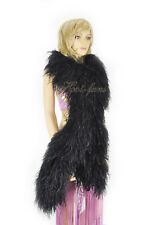 black 20 ply lightweight Luxury fluffy Ostrich Feather Boa Burlesque Costume