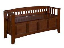 Wooden Bench Organizer Bed Patio Deck Furniture Split Seat Storage Flip Top Lid