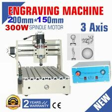 3 AXIS CNC Router engraver/engraving drilling and milling machine 300W 3020 110V