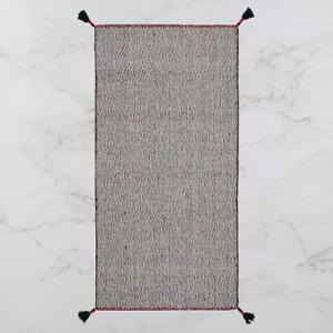 *New* KOKSEBY Rug, flatwoven, black/white  75x150 cm 504.715.83 *Brand IKEA*