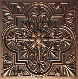 "Ceiling Tile, Glue Up, Styrofoam, REGAL 20"" x 20"" Antique Copper"
