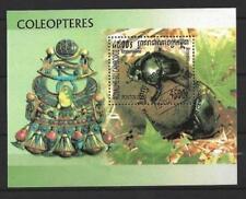 Animaux Insectes Coléoptères Cambodge (61) bloc oblitéré
