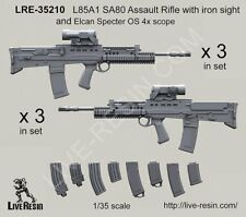 Live Resin 35210 1/35 L85A1 SA80 Assault Rifle with Iron Sight and Elcan Specter