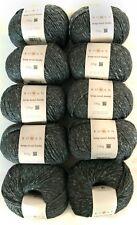 1000g Rowan Hemp Tweed Chunky 11 Khaki Hanf dicke Wolle stricken Tweedgarn