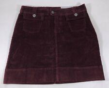 Patagonia Burgundy Deep Red Corduroy Stretch Cotton Fall Mini Skirt Womens 8 NWT