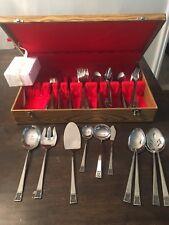 Vintage Japan Kumagai stainless Flatware Set 75 Pieces Forks Knives Spoons