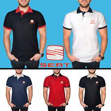 SEAT Camiseta Camisa Polo T Shirt BORDADO ALGODÓN Tee Auto Logo Hombre Regalo