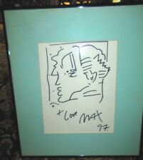 UNUSUAL SIGNED PETER MAX ORIGINAL BLACK MARKER ON PAPER DRAWING