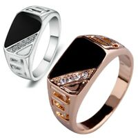 Fashion Men Stainless Steel Silver Gold Rings Gothic Punk Biker Finger Ring Band