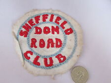 SHEFFIELD  Don Road Club  c 1930's  Sew on  BADGE