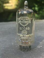 Strong Balanced Mullard ECC83 12AX7 f92 Blackburn 1959 Long Plate Halo getter