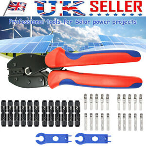 10 Pairs MC4 Solar Crimp Tool Connector + PV 2,5/4/6mm² Wire Crimping Tool Kit