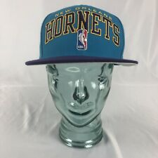 New Orleans Hornets NBA Adidas Snapback Hat Teal Purple