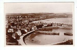 Stonehaven Town Piers Harbour Real Photograph 23 Jul 1932 Jarratt South View