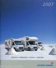 Prospekt Eura Mobil 2007 Reisemobil Profila Terrestra Activa Contura Broschüre