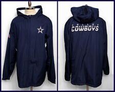 Dallas Cowboys Football On Field Jacket By Reebok Fleece Lined Hooded Size 3XL