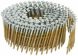 """15 Degree Coil Nails 1 3/4"""" Fence Picket  ACQ Hot Dip Galvanized Ring Shank"""