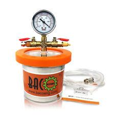 BACOENG 1.2 Quart Super Mini Stainless Steel Extraction/Degassing Vacuum Chamber
