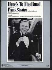 Here's to the Band 1983 Frank Sinatra Sheet Music