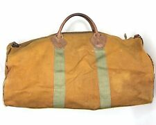 Vintage LL Bean Duffle Bag Cursive Label  Talon Zipper Canvas Leather. No Strap
