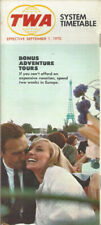TWA Trans World Airlines system timetable 9/1/70 [0112]
