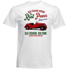 VINTAGE ITALIAN CAR FIAT BALILLA COPPA d`oro 508-Nuova T-shirt di cotone