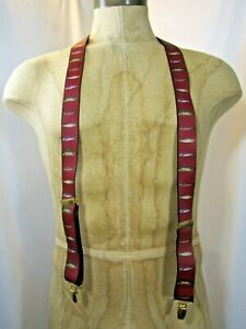 Vintage 1992 PELICAN Angler's Expressions Made in USA Elastic Fish Suspenders