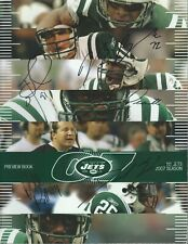 New York Jets 2007 Auto Yearbook Signed Darrelle Revis David Harris & More (5)