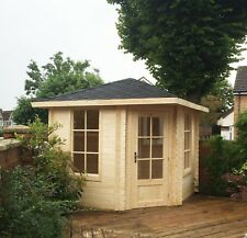 Agande 5 Eck Gartenhaus Blockhaus Gerätehaus Holz 260x260, 28mm, 283928