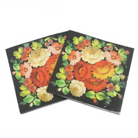 20* floral flower paper napkins party tissue cocktail napkins decor serviettesRS