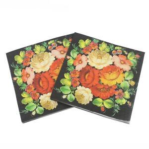 20X floral flower paper napkins party tissue cocktail napkins decor serviet_cd