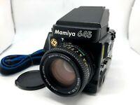 【Nr MINT】 Mamiya M645 Super AE Finder + Sekor C 80mm F2.8 Lens from JAPAN ✈FedEx