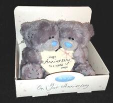 "ME TO YOU BEAR TATTY TEDDY 4"" WEDDING ANNIVERSARY HEART COUPLE BEARS IN BOX GIFT"