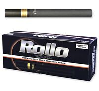 THREE BOXES OF Rollo Eclipse King Size (84mm) Black Cigarette Tubes = 600 total