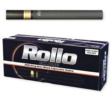 3X BOXES OF Rollo Eclipse King Size (84mm) Black Cigarette Tubes (200 Tubes/Box)