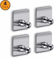 Adhesive Shower Hooks, Stainless Steel Wall Hooks Bathroom Towel Hook, Heavy Dut