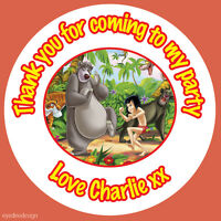 35 Personalised The Jungle Book Birthday Stickers Party BAG Thank You Sweet 383