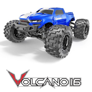 Redcat Racing Volcano 16 1/16 Scale Brushed RC Monster Truck Blue NEW