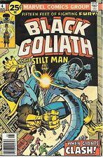 BLACK GOLIATH #4 (Aug 1976) (G/VG) - Stilt-Man