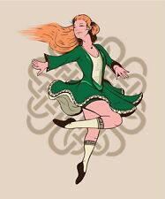 "3"" Irish Dancer Sticker Celtic Traditional Green Luck St Patrick's Day Ireland"