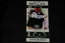 COACH REX RYAN SIGNED AUTOGRAPHED TICKET STUB CARD NEW YORK JETS