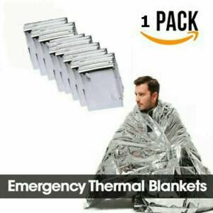 """Top Emergency BLANKET Thermal Survival Safety Insulating Mylar Heat 84"""" X52"""""""